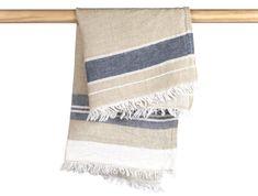 "Leinenhamamtuch ""Libeco Bastion Stripe"" - Medium Fouta / 55 x 65 cm Guest Towels, Town And Country, Beach Towel, Blanket, Medium, Hamburger, Weave, Wellness, Organic"