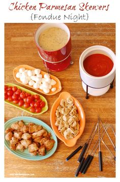 Chick-fil-A Fondue Night! A great party idea!