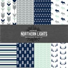 The Northern Lights Crib Bedding Set - Modern Custom Crib Bedding - Choose your fabric - CozybyJess Exclusive by CozybyJess on Etsy https://www.etsy.com/listing/206826192/the-northern-lights-crib-bedding-set
