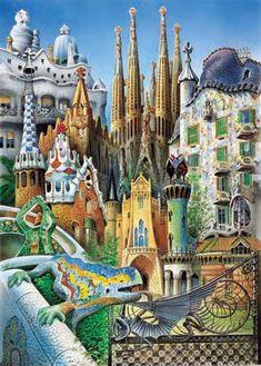 Gaudí collage