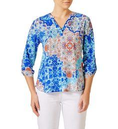 W LANE Paisley Multi Colour Blouse $39.99 Shirt Dress, Blouse, Paisley, Colour, Womens Fashion, Mens Tops, Shirts, Clothes, Dresses