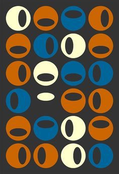 Colors,  circles with ovals. Classic theme.----love but would like in a different color