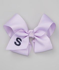 Take a look at this Lavender Initial Bow Clip by Overdressed Inc. on #zulily today!