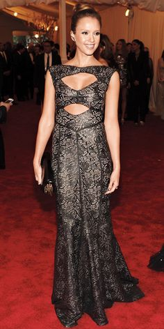 Jessica Alba: Her 10 Best Red Carpet Looks Ever! - In Tory Burch, 2013 from #InStyle