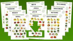 Descarga desde esta entrada el calendario de frutas y verduras de temporada para todo el año,documento para descargar en formato pdf.