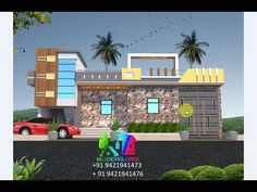 Front Elevation Designs, House Elevation, Modern Small House Design, Indian Homes, Ground Floor, Flooring, Architecture, Arquitetura, Indian House