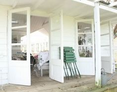 White Barn House simple , modest but charming ! Outdoor Retreat, Outdoor Decor, Foster House, White Barn, Cabin Interiors, Play Houses, Farmhouse Style, Industrial Farmhouse, My Dream Home