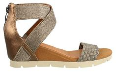 bernie mev Womens August Bronze Sandal 37 US Womens 65 M -- Click image to review more details.