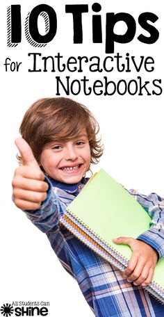 10 Interactive Notebook Tips - everything you need to know to get your class started with interactive notebooks!