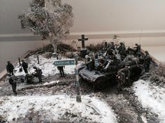 Battle of the Bulge - The road to Bastogne   Scale model   Diorama   Vignettes