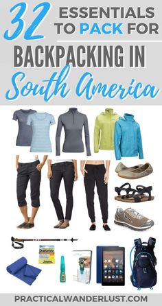 What to pack for backpacking in South America. 32 tried & tested travel great essentials, plus tips, tricks, and recommendations for travel in South America including Colombia, Ecuador, Peru, Chile, and Argentina!