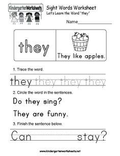 Kindergarten Sight Words: (NO PREP) Book 3 in 2018 | Sight word ...