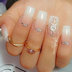 Beautiful nail art designs that are just too cute to resist. It's time to try out something new with your nail art. Gorgeous Nails, Love Nails, Pretty Nails, My Nails, Glam Nails, Bling Nails, Beauty Nails, Bridal Nails, Wedding Nails