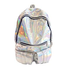BEIBAOBAO Mochila Masculina backpack Women Silver Hologram Laser Back pack leather Holographic Backpack For teenager School Bags Men's Backpack, Leather Backpack, Fashion Backpack, Leather Bag, Patent Leather, Ladies Backpack, Stylish School Bags, School Bags For Girls, Leather School Bag