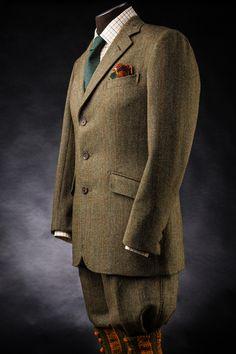 "8ca4c98c7e7a gentlemanbobwhite  "" A shooting suit made by David Cook of Denham   Goddard  for Wesley"