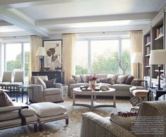 Thomas O'Brien Interiors | show house with a perfect mix of furnishings fabric and texture the ...