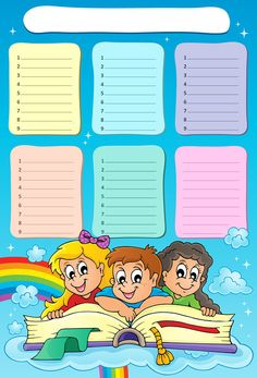 "Photo from album ""Расписание уроков"" on Yandex. School Timetable, School Frame, Powerpoint Background Design, Kids Background, School Clipart, Back To School Activities, Newsletter Templates, Christmas Crafts For Kids, Crayon"