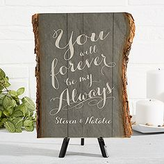 Rustic Romance Personalized Basswood Plank - Romantic Gifts - Romantic Gifts