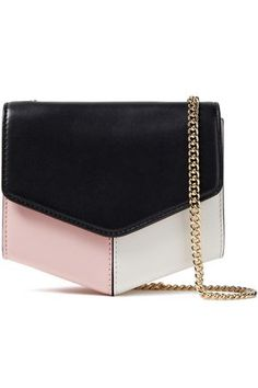 Shop on-sale Color-block leather shoulder bag. Browse other discount designer Cross Body & more luxury fashion pieces at THE OUTNET Leather Crossbody Bag, Leather Bag, Sunglasses Accessories, Bag Accessories, Leather Shoulder Bag, Shoulder Strap, Shoulder Bags, Jimmy Choo Shoes, Sandro