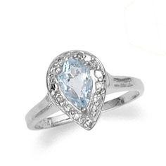 Aquamarine Ring-Silver Aquamarine Ring-March Birthstone Ring-Gemstone Ring-Light Blue Ring-Silver Rings on Etsy, $55.00