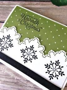 Stampin' Up! Snowflake Sentiment Christmas Card - Peggy Noe - stampinup - Pretty Paper Cards
