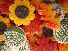 Autumn Leaves Cookies.  Almost too pretty to eat.  Almost.
