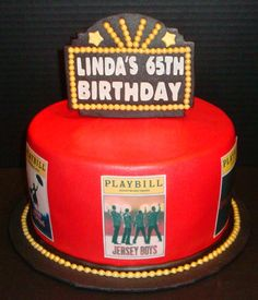 We could take a twist on this and print off small playbills on cardstock, add a toothpick and insert into cupcakes