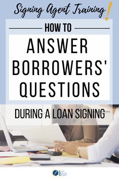 10 Best Signing Agent Tips images in 2019 | The borrowers