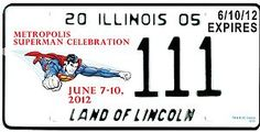 This is what the 2012 Superman license plate will look like :)