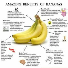 Banana counts as a delicious fruit. Conceivably the most appetizing in our country, banana is a delicious, fragrant, healthy and eager to eat. People who feel tired it is very useful for them to have bananas. There is Iodine deficiency in banana. Health Facts, Health And Nutrition, Health And Wellness, Health Fitness, Banana Nutrition, Health Care, Fitness Diet, Fitness Facts, Free Fitness