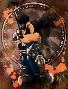 Disney vs Marvel: Mick Fury by steevinlove on deviantART (Nick Fury and Mickey Mouse mash-up) Dark Disney, Disney Art, Disney Pixar, Mickey Mouse Art, Mickey Mouse And Friends, Disney Halloween, Scrapbook Disney, Mouse Pictures, Disney Marvel