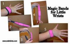 """While touring around WDW last week, I noticed a lot of little kids wearing the entire band. When the """"one size fits all"""" band is placed on a little wrist – it can wrap around nearly two times! (See picture 1.) This doesn't have to be the case. Disney designed these bands to truly fit …"""