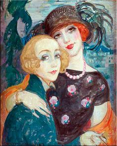 Artist Lili Elbe and her wife, artist Gerda Gottlieb. Lili was one of the first recipients of sex reassignment surgery, performed in Germany in 1930.