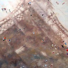Olivier Robin  Paris sous la pluie 1  60x60 Cm  Huile sur toile