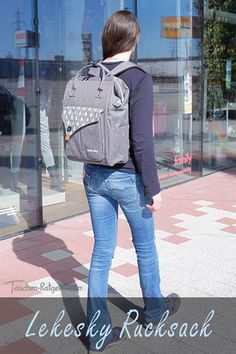 stylischer rucksack, damen business rucksack, business rucksack test, studenten rucksack Praxis Test, Laptop Rucksack, Denim, Jackets, Fashion, Hidden Compartments, Secret Compartment, Classy Lady, Students