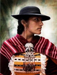 Peruvian woman photographed by Mario Testino