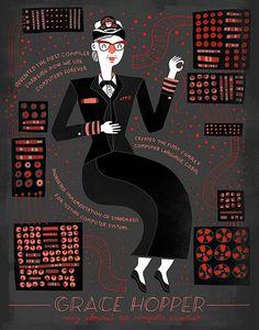 Women in Science - Grace Hopper Poster on www.amightygirl.com