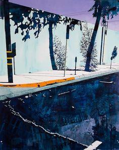Paul Davies- LA Road - acrylic on linen (153 x 122cm)