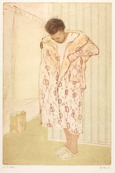 The Robe, Ellen Heck, Xilografia e Acquaforte Intaglio Printmaking, Japanese Woodcut, Examples Of Art, Cleveland Museum Of Art, Western Art, Asian Art, Painting Inspiration, Female Art, Art History