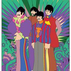 The Beatles ( Beatles Love, Beatles Art, Ray Charles, Yellow Submarine Art, I Am The Walrus, Music Photo, Elements Of Art, Colorful Drawings, Paul Mccartney