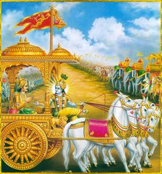 krihna arjun (1,/ 20, 22 23}  O Lord, please stop my chariot be­tween the two armies until I  behold those who stand here eager for the bat­tle and with whom I must engage in this act of war.  I wish to see those who are willing to serve and appease the evil-minded Kauravas by assembling here to fight the battle. THE MINING OF HARIKASH ( हृषीकेशं) attract (charm: )  of arjun goal  the krihna sea true  way .