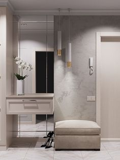 Home Room Design, Interior Design Living Room, Modern Interior, Living Room Decor, Interior Decorating, Design Loft, Hall Interior, Design Bedroom, Entrance Hall Decor