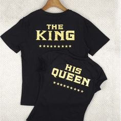 T Shirts Design Cute Couple King and Queen Shirts Matching Clothes for Couples #Unbranded #BasicTee