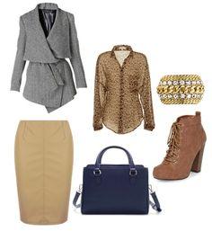 Sylwetka W: Płaszcz:http://www.pret-a-beaute.com/RAXEVSKY-FATIMA-Grey-Asymmetrical-Jacket_p-430696.aspx Spódnica, buty: Dorothy Perkins Torba: Zara Bransoletka: Dyrberg&Kern Bluzka: http://www.kikisboutique.com/item/Glamorous-Clothing/Leopard-Print-Blouse/8DP