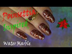 POINSETTIA Inspired Water Marble! - YouTube