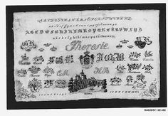 German linen Sampler with cotton and metal thread, (Saxony) 1855. | The Met