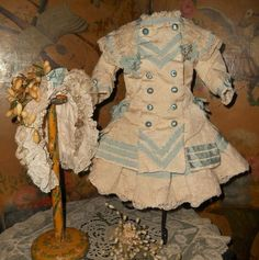 ~~~ Beautiful Navy Style French Bebe Costume with Bonnet ~~~ from whendreamscometrue on Ruby Lane