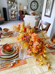 Dining Delight: Thanksgiving Tablescape for a Small Gathering Thanksgiving Table Settings, Thanksgiving Tablescapes, Thanksgiving Feast, Thanksgiving Decorations, Homemade Buns, Basket Tray, Leaf Bowls, Chocolate Dreams