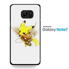 Pokemon Pikachu Attack Onbtitan Shingeki No Kyojin TATUM-8830 Samsung Phonecase Cover For Samsung Galaxy Note 7