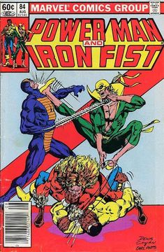Power Man And Iron Fist 84 Marvel 1982 VF NM Luke Cage SabretoothCondition Very Fine ~ Near Mint Shipping Shipped in a box, sandwiched between rigid cardbo Marvel Comics, Marvel Comic Books, Marvel Heroes, Marvel Characters, Comic Books Art, Comic Art, Book Art, Alter Ego, Iron Fist Comic